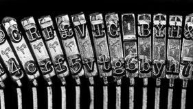 Old Fashion Typewriter. On a black background Royalty Free Stock Image