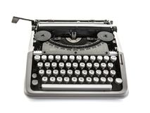 Old Fashion Typewriter. On a white background Stock Photo