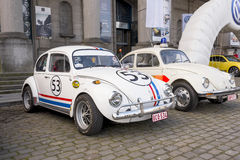 Old Fashion VW Beetle Herbie Style Restored Royalty Free Stock Images