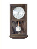 Old-fashion wooden clock with pendulum Royalty Free Stock Photo
