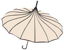 Old-fashionable Umbrella - Parasol. Old fashionable Umbrella - Parasol. The pagoda shape royalty free illustration