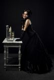 Old-fashioned actress Royalty Free Stock Photo