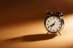 Old fashioned alarm clock Stock Photo