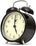 Old fashioned alarm clock, black Royalty Free Stock Photography