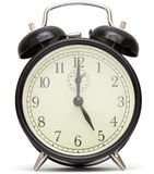 Old fashioned alarm clock, black Stock Image