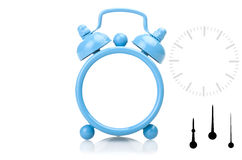 Old fashioned alarm clock with clipping paths Royalty Free Stock Photo