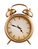 Old-fashioned alarm clock isolated on white background Stock Photo