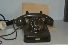 Vintage telephone old fashioned analogue telephone stock photos