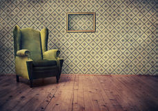 Old fashioned armchair Stock Image
