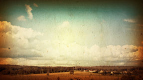 Old-fashioned artistic landscape royalty free stock photo