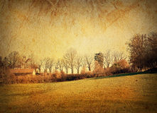 Old-fashioned artistic landscape Royalty Free Stock Photos