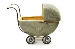 Old fashioned baby carriage Stock Photos