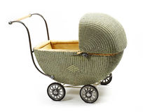 Old fashioned baby carriage Stock Images