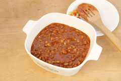 Old Fashioned Baked Beans Stock Image