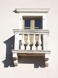 Old-fashioned balcony on a wall Royalty Free Stock Photos