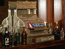 Old fashioned bar cash register Royalty Free Stock Photos