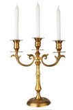 Old-fashioned baroque elegant candlestick Stock Photo