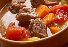 Old fashioned beef stew Stock Photo