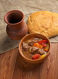 Old fashioned beef stew Stock Photography