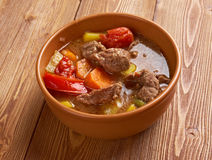 Old fashioned beef stew Stock Images