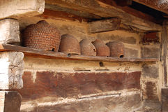 Old-Fashioned Beehive Stock Photography