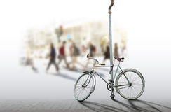 Old fashioned bicycle Royalty Free Stock Images