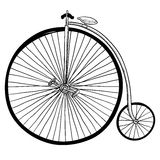 Old-fashioned bicycle drawing Stock Photography