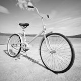 Old-fashioned bicycle - monochrome picture Royalty Free Stock Photography