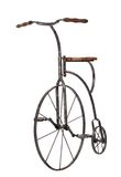 Old Fashioned Bicycle Over White Royalty Free Stock Image