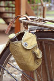 Old-fashioned bicycle. Shallow depth of field Royalty Free Stock Images