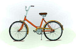 Old-fashioned bicycle - vector illustration Royalty Free Stock Image