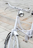 Old-fashioned bicycle. vintage retro style Stock Photos