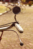 Old-fashioned bicycle. vintage retro style. Old-fashioned bicycle. Shallow depth field stock photos