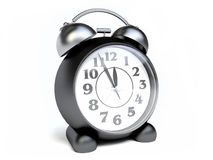 Old Fashioned Black Alarm Clock Stock Images