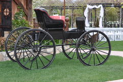 Old Fashioned Black Lacquered Carriage Royalty Free Stock Images
