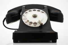 Old Fashioned Black Telephone Royalty Free Stock Image