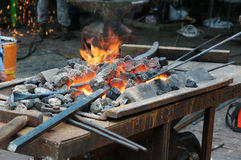 Old-fashioned blacksmith furnace Royalty Free Stock Photography