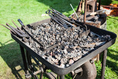 Old fashioned blacksmith furnace Royalty Free Stock Photos