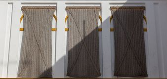 Old fashioned blinds in Seville royalty free stock images