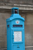 Old fashioned Blue Police box Royalty Free Stock Image