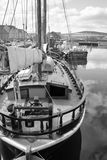 Boat docked in Kirkwall harbour Stock Photo
