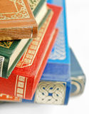Old fashioned books closeup Stock Images