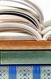 Old fashioned books closeup Royalty Free Stock Images