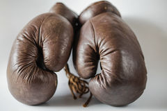 Old fashioned boxing gloves royalty free stock images