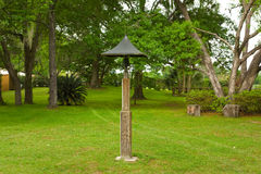 An old-fashioned brass bell at a farm in ocala Stock Photos