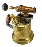 Old fashioned brass blow torch royalty free stock images
