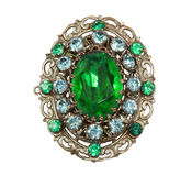 Old-fashioned brooch royalty free stock image