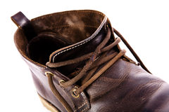 Old fashioned brown boots Stock Image