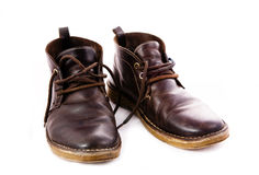 Old fashioned brown boots Stock Photo