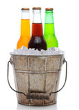 Old Fashioned Bucket With Ice and Soda Stock Photos